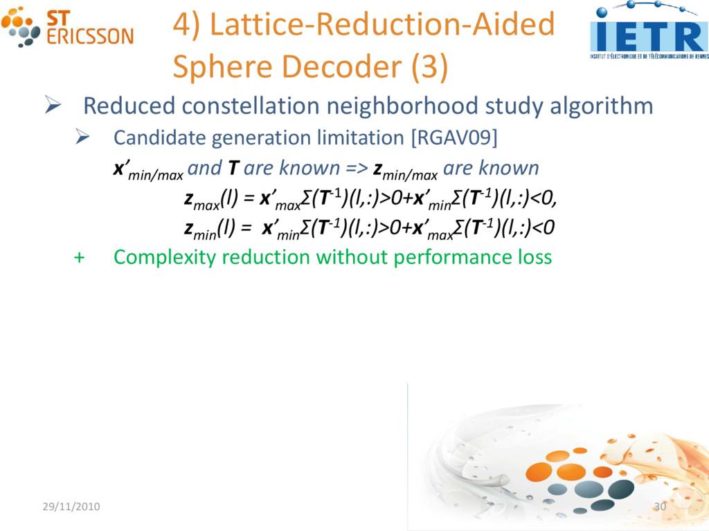 4) Lattice-Reduction-Aided Sphere Decoder (3) ...