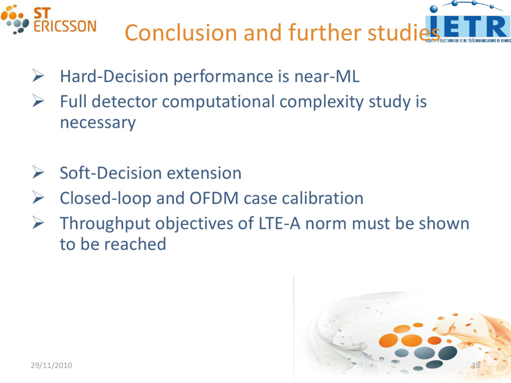 Conclusion and further studies  Hard-Decision ...