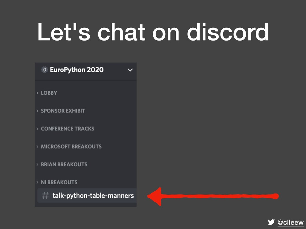@clleew Let's chat on discord