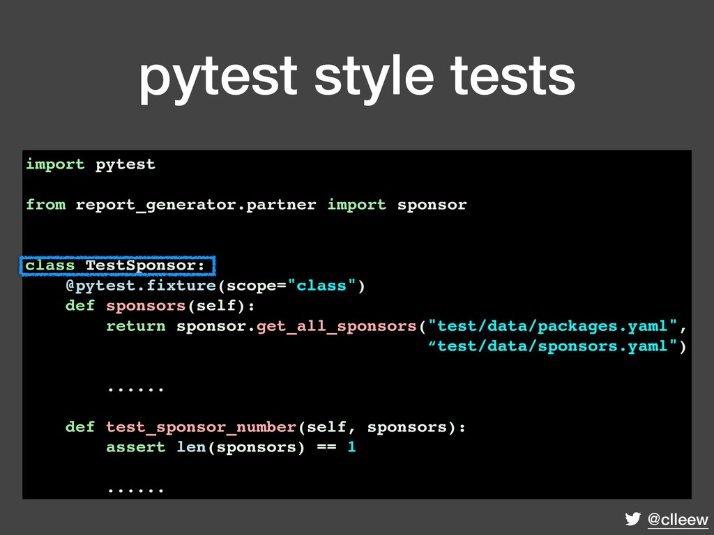 @clleew pytest style tests import pytest from r...