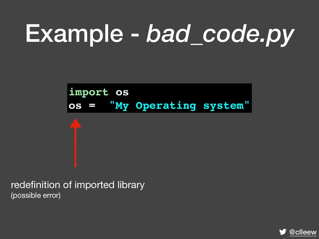 """@clleew import os os = """"My Operating system"""" re..."""
