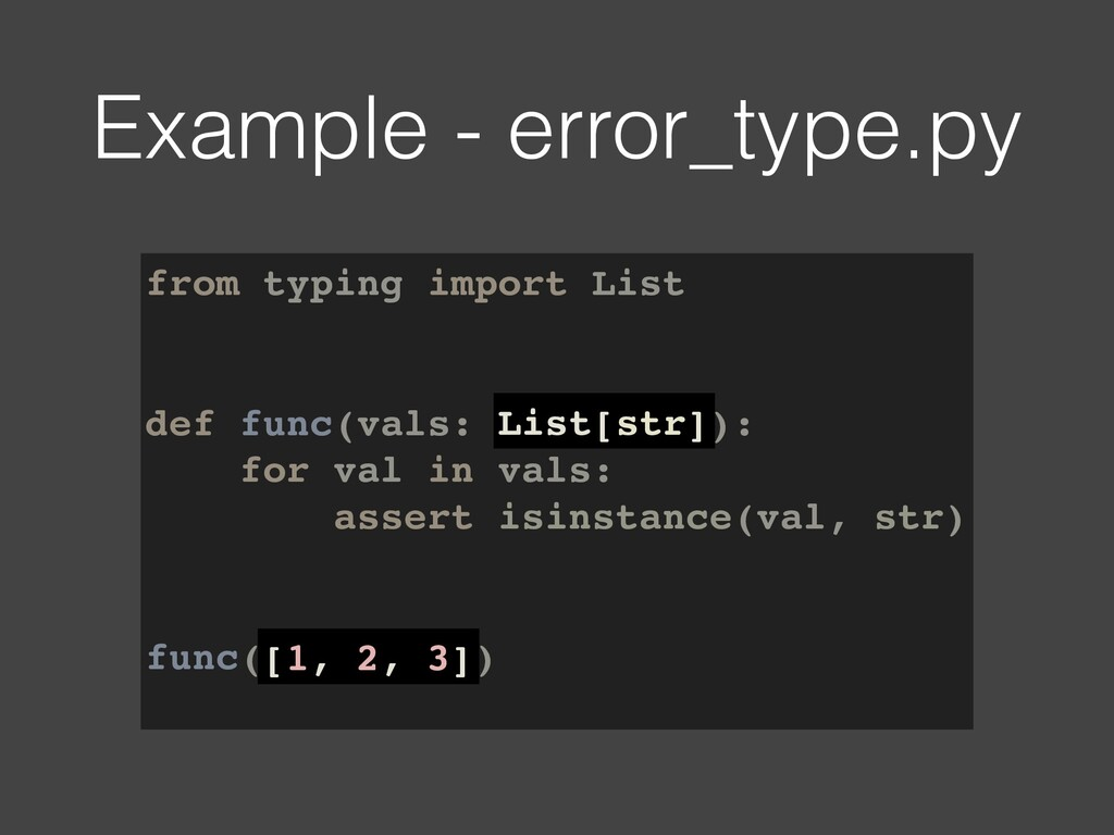 from typing import List def func(vals: List[str...