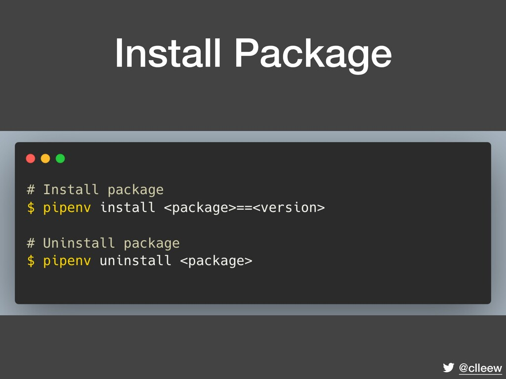 @clleew Install Package