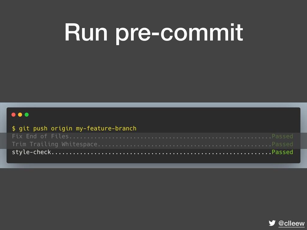 @clleew Run pre-commit