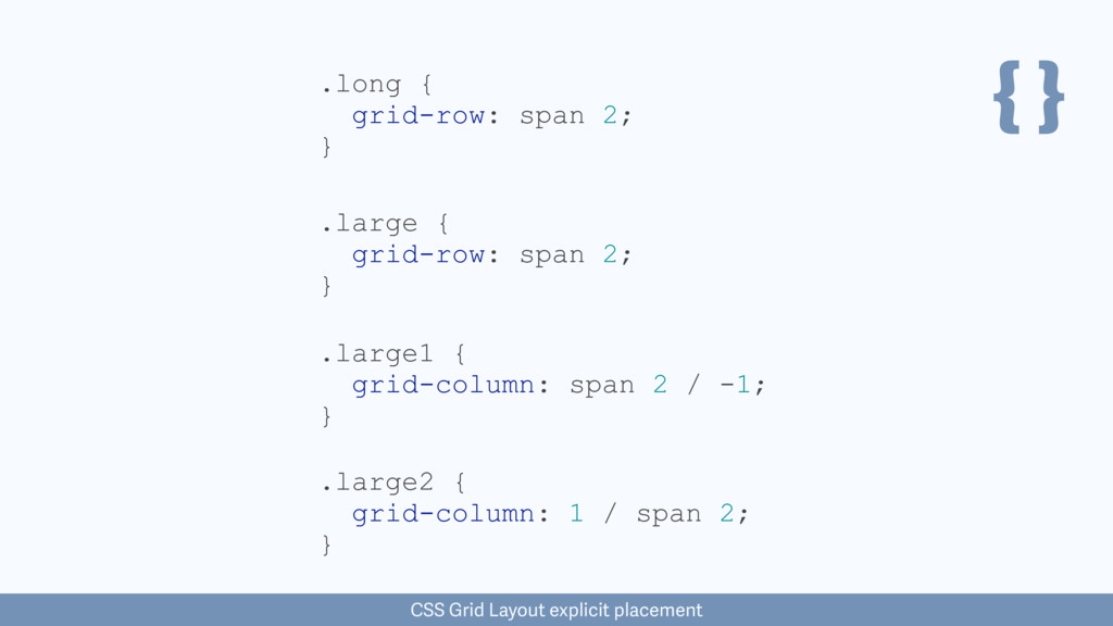 { } .large { grid-row: span 2; } CSS Grid Layou...