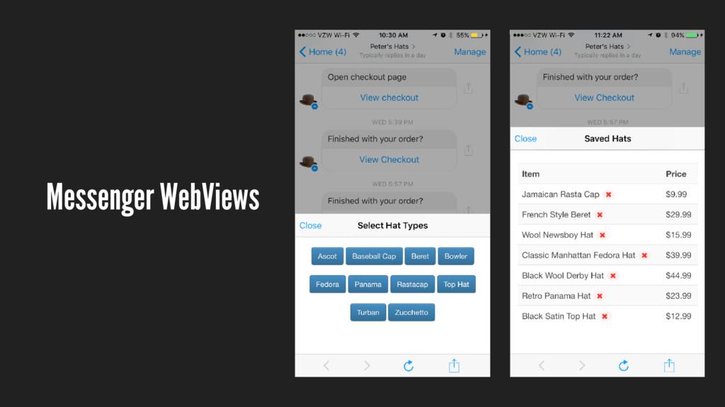 Messenger WebViews