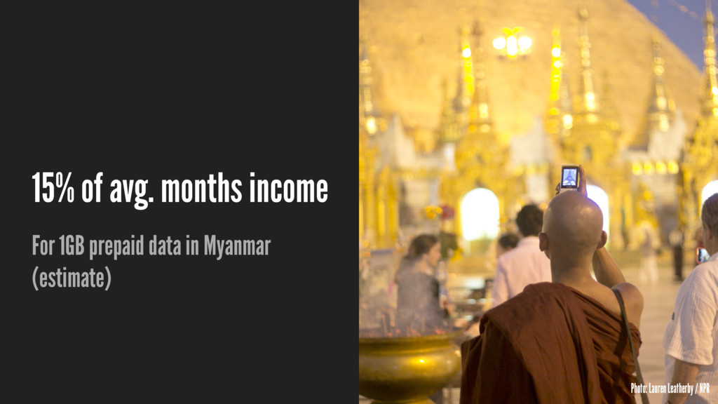 15% of avg. months income For 1GB prepaid data ...