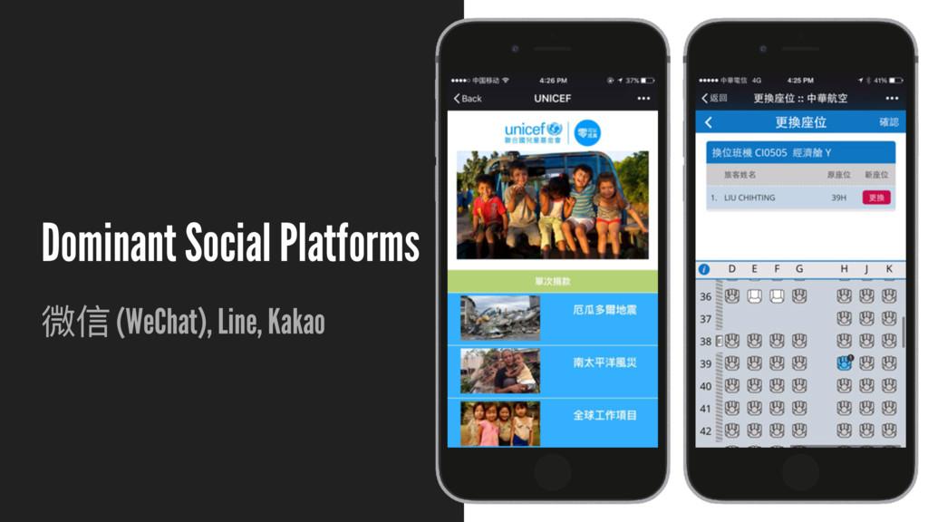 Dominant Social Platforms ஙמ (WeChat), Line, Ka...