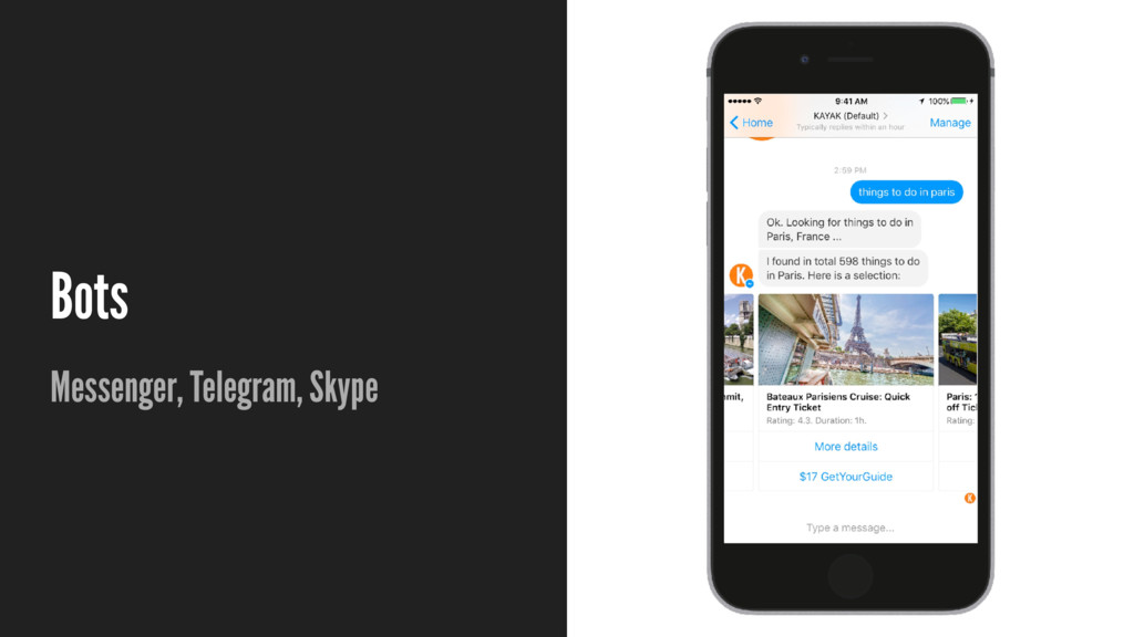 Bots Messenger, Telegram, Skype