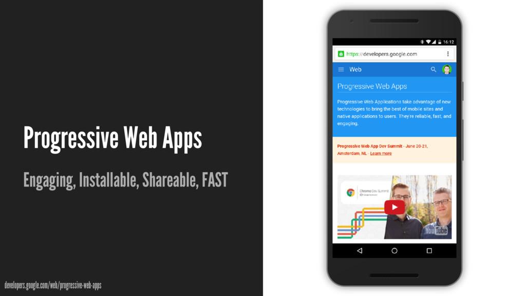 Progressive Web Apps Engaging, Installable, Sha...