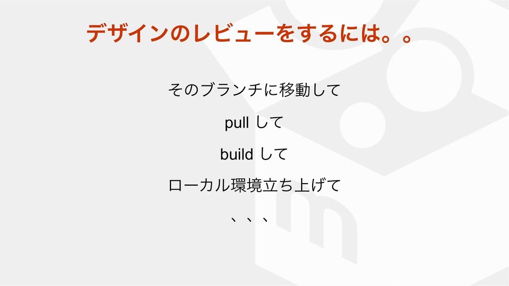 ͦͷϒϥϯνʹҠಈͯ͠ pull ͯ͠ build ͯ͠ ϩʔΧϧڥ্ཱͪ͛ͯ ɺɺɺ σβ...