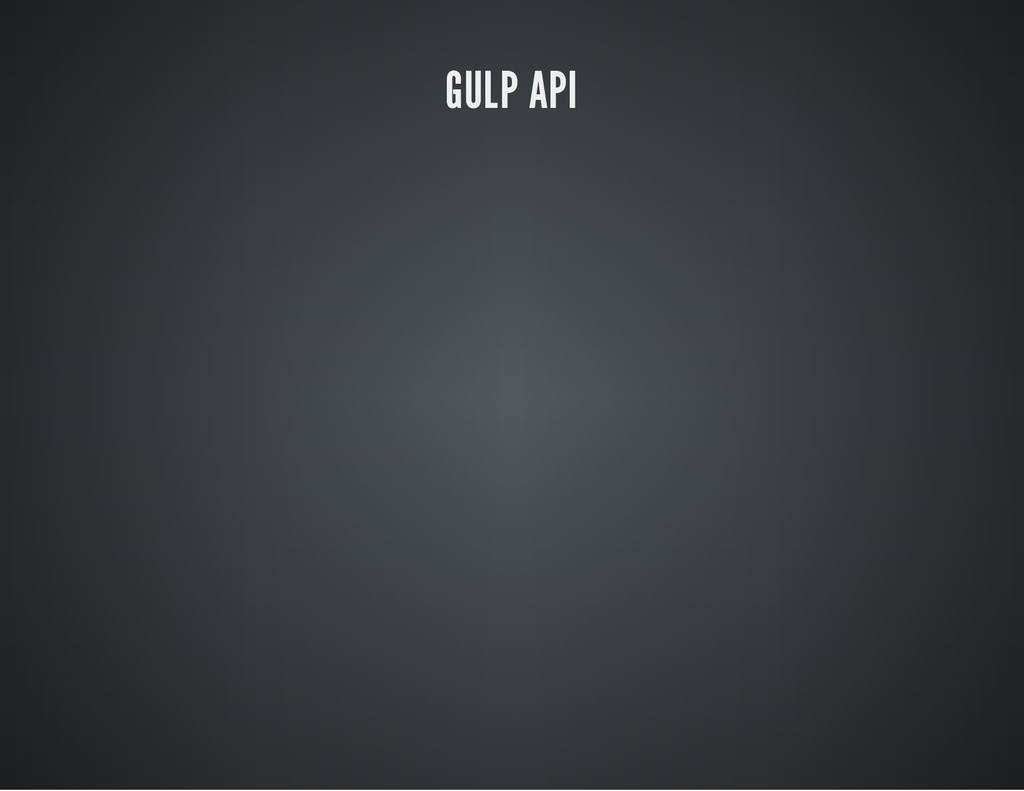 GULP API