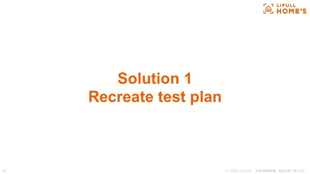 © LIFULL Co.,Ltd. 本書の無断転載、複製を固く禁じます。 23 Solutio...