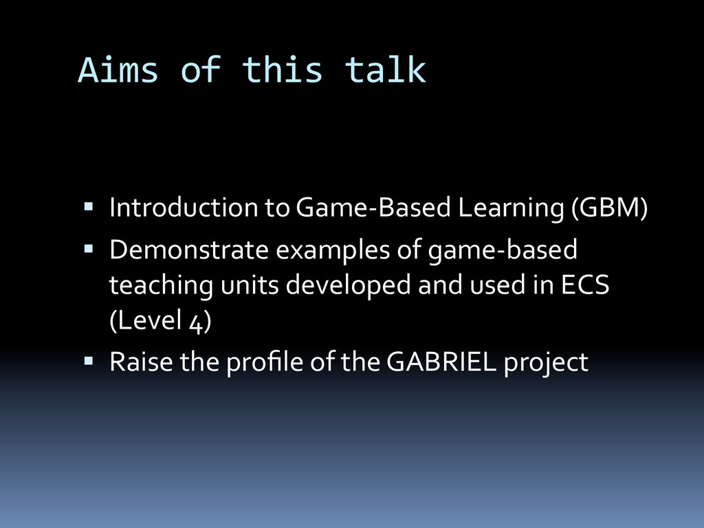 Aims	