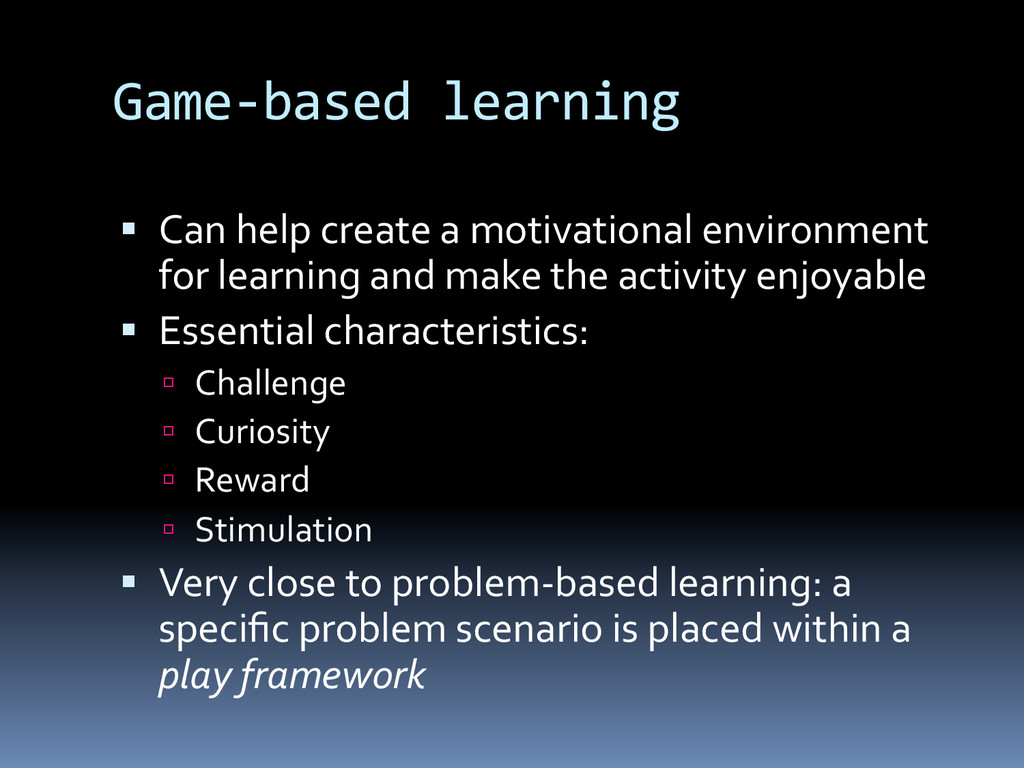 Game-­‐based	