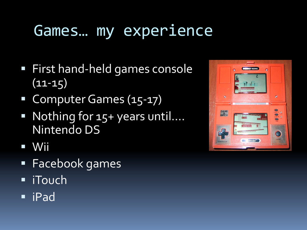 Games…	