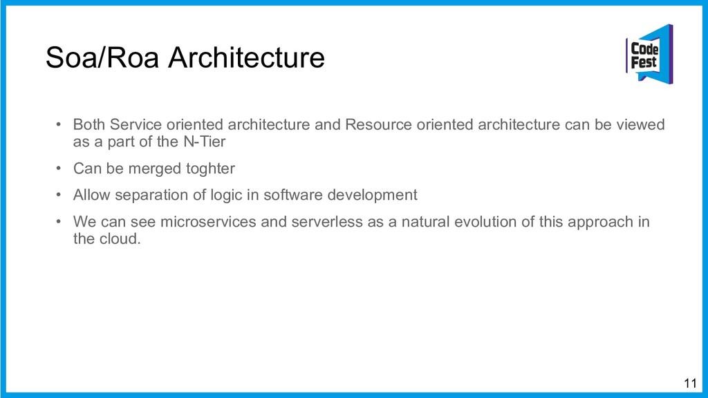 Soa/Roa Architecture • Both Service oriented ar...