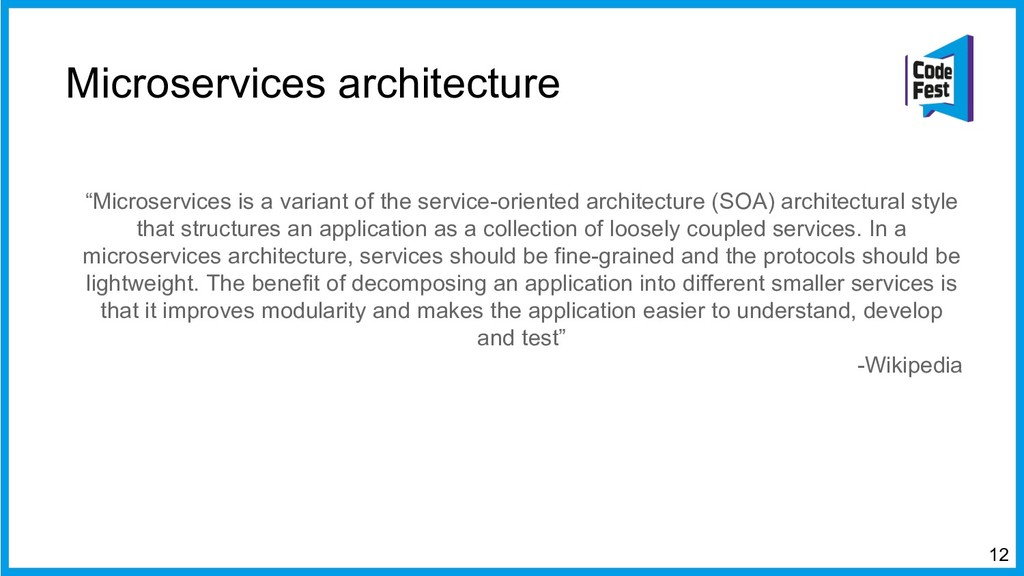 "Microservices architecture ""Microservices is a ..."