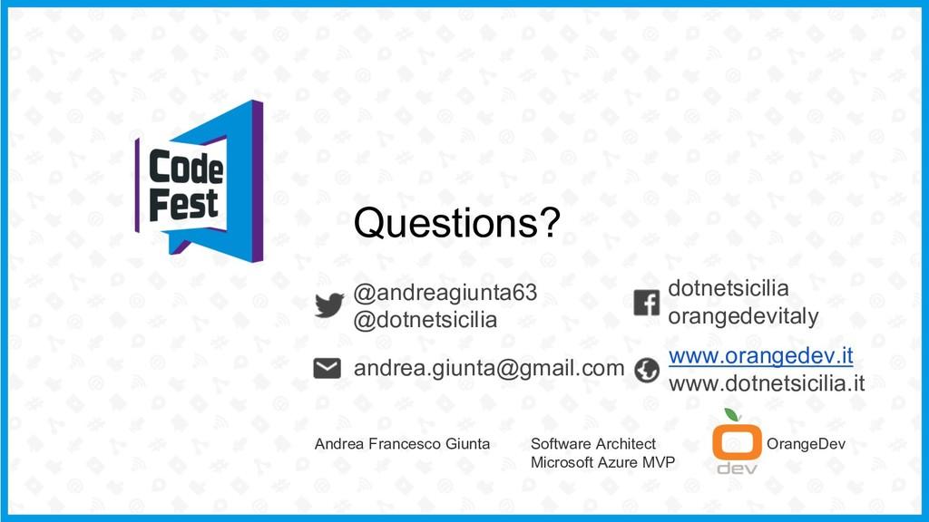 @andreagiunta63 @dotnetsicilia Questions? dotne...