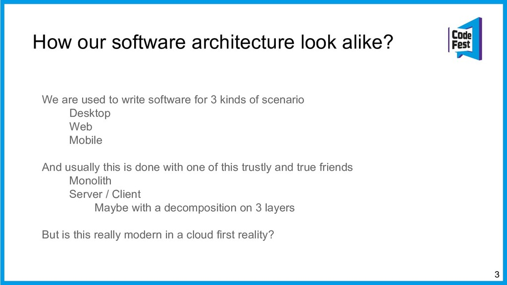 How our software architecture look alike? We ar...