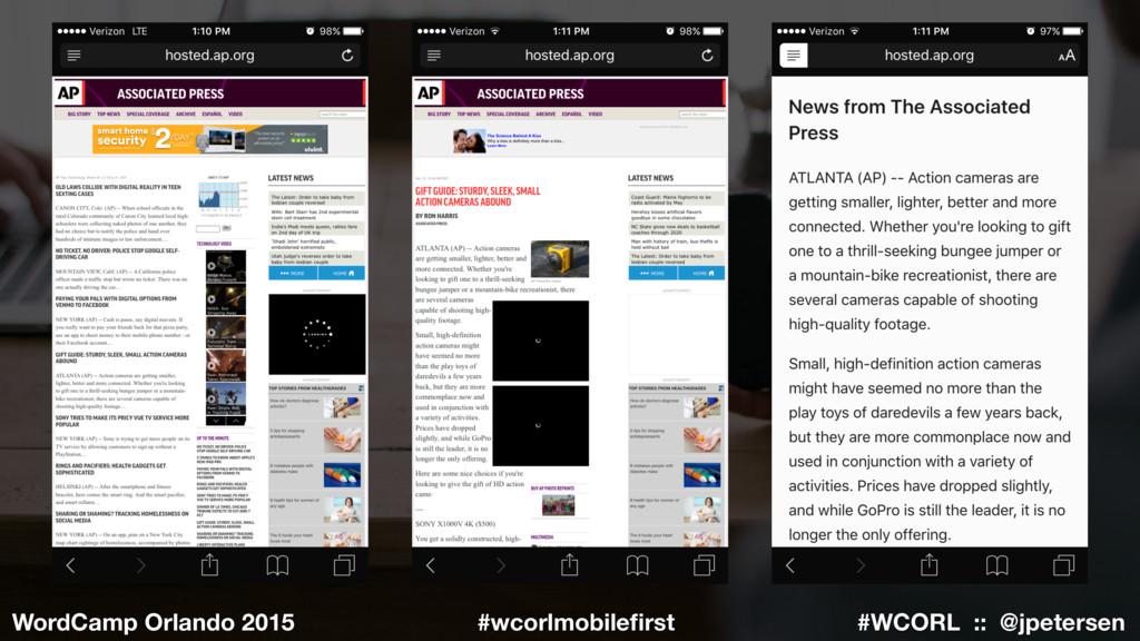 #WCORL :: @jpetersen WordCamp Orlando 2015 #wco...