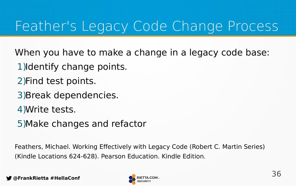 36 @FrankRietta #HellaConf Feather's Legacy Cod...