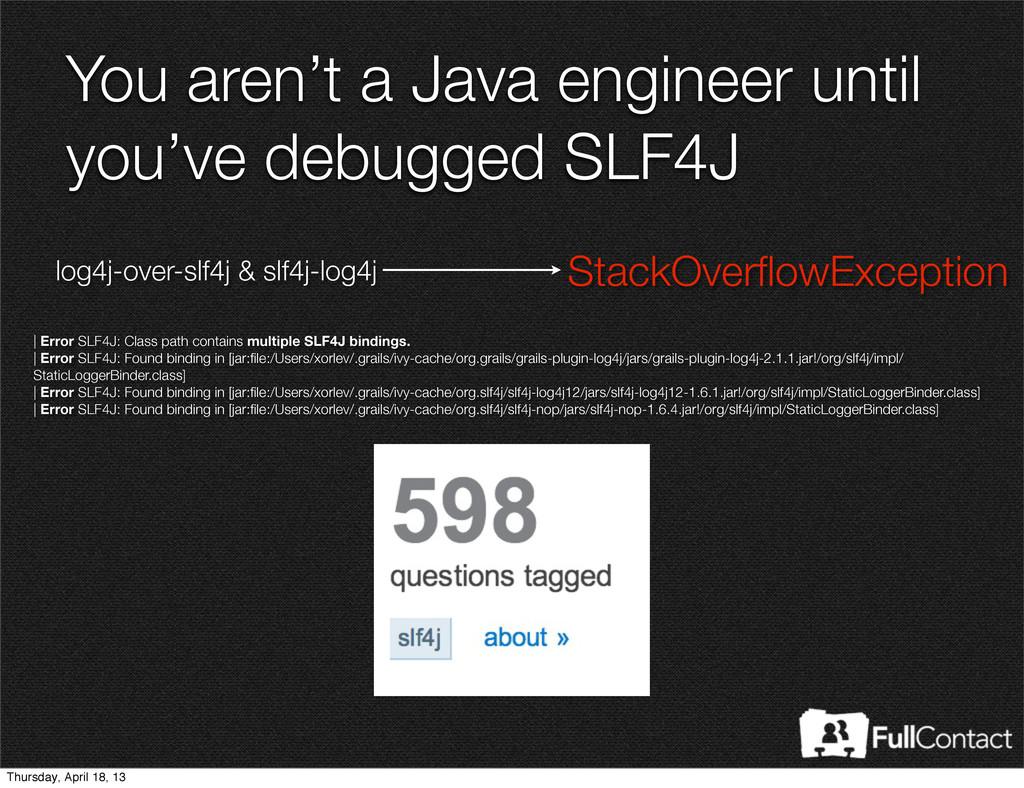 | Error SLF4J: Class path contains multiple SLF...