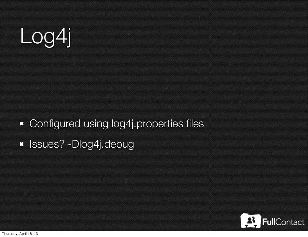 Log4j Configured using log4j.properties files Iss...