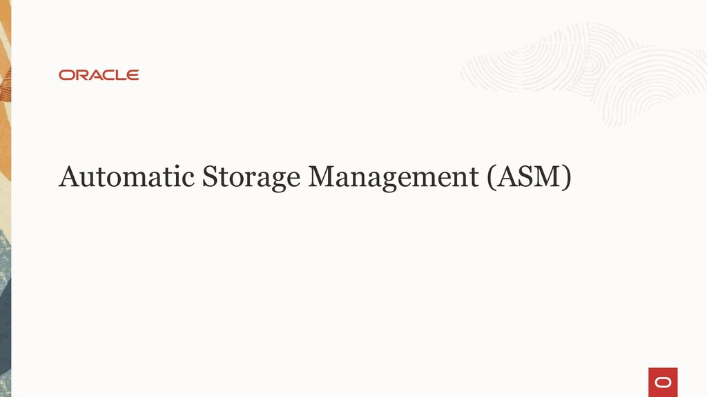 Automatic Storage Management (ASM)