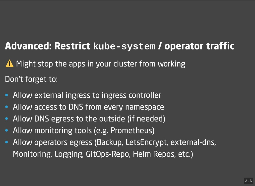 / Advanced: Restrict Advanced: Restrict kube-sy...