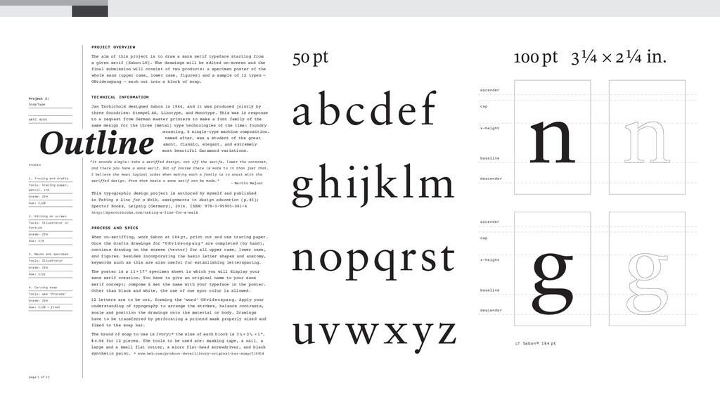 Project 2: SoapType ARTC 4305 Type III Spring 2...