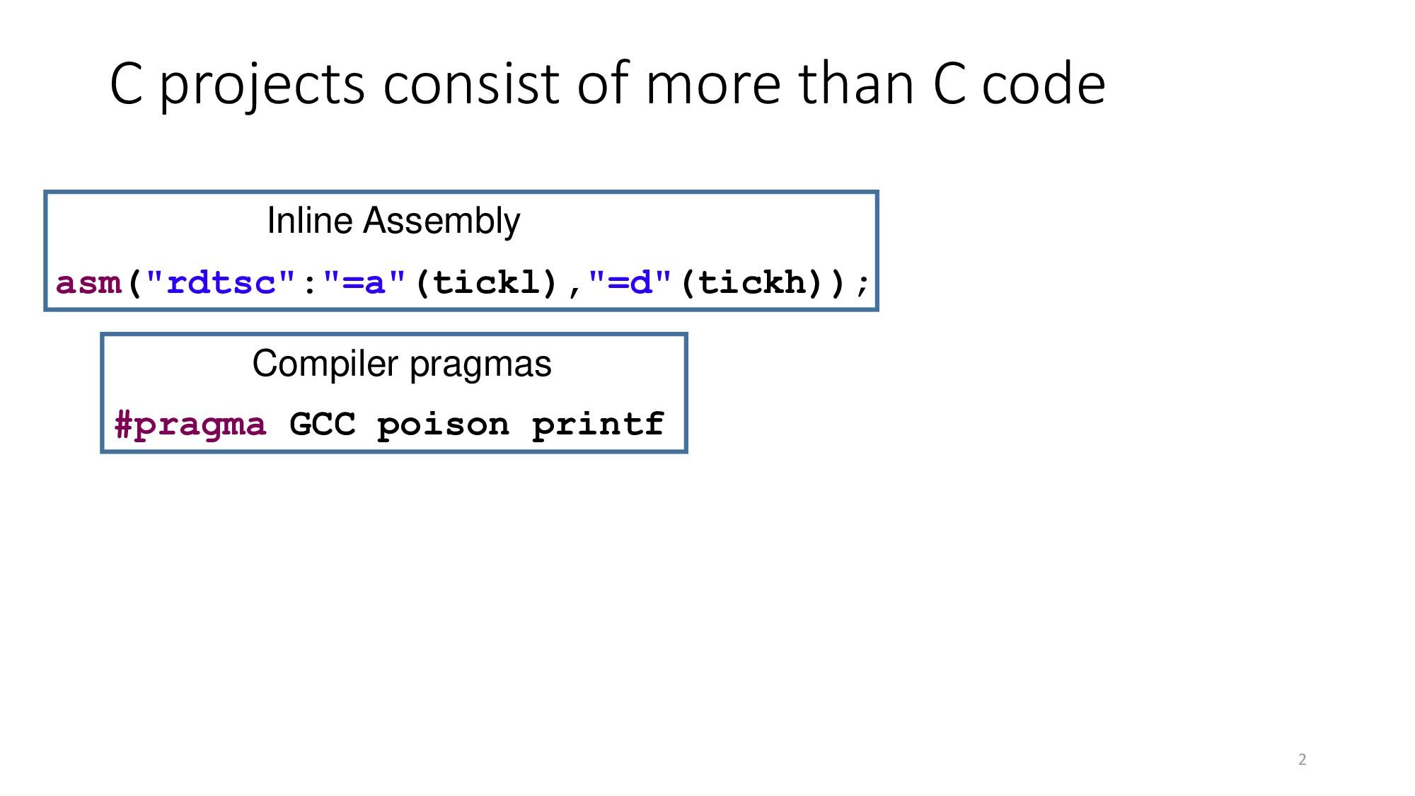 "2 asm(""rdtsc"":""=a""(tickl),""=d""(tickh)); #pragma..."