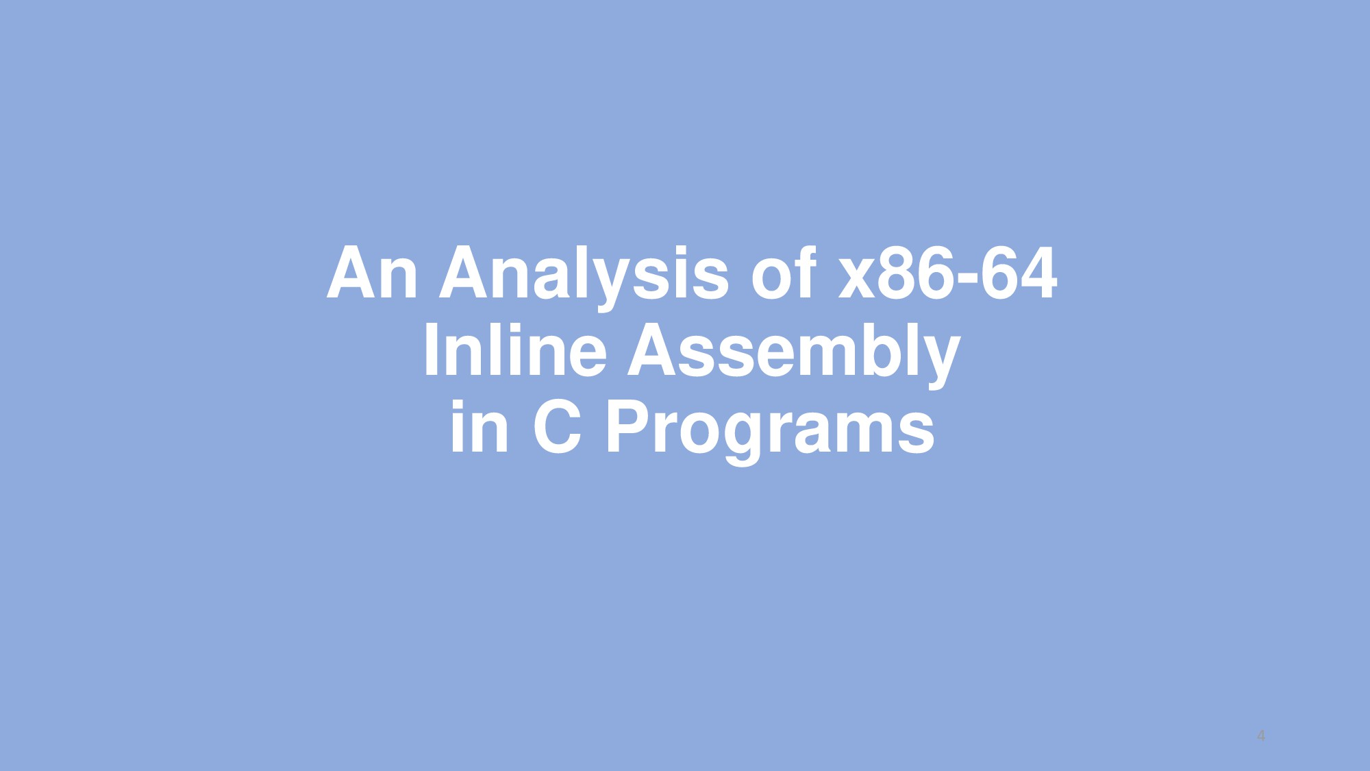 An Analysis of x86-64 Inline Assembly in C Prog...
