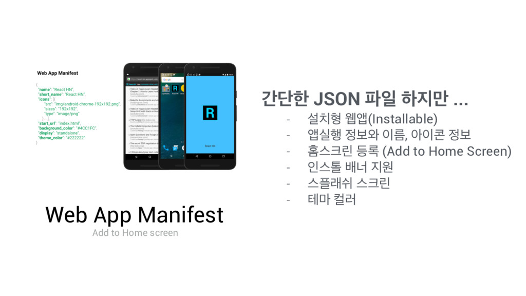 Web App Manifest Add to Home screen рױೠ JSON ౵ੌ...