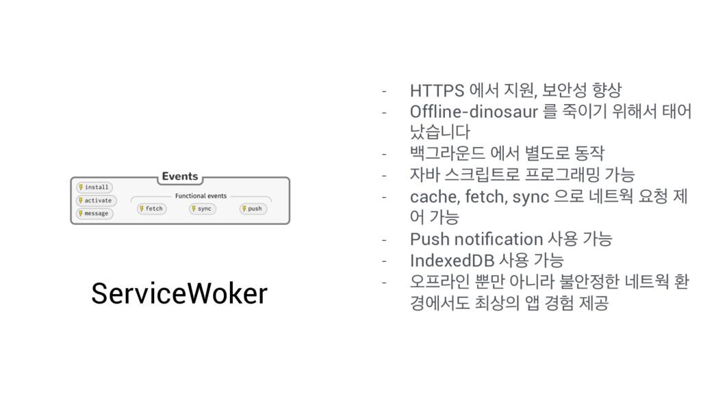 ServiceWoker - HTTPS ীࢲ ਗ, ࠁউ ೱ - Offline-di...