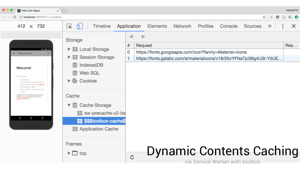 Dynamic Contents Caching via Service Worker wit...