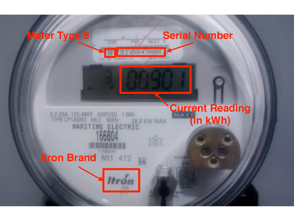 Meter Type 8 Itron Brand Serial Number Current ...