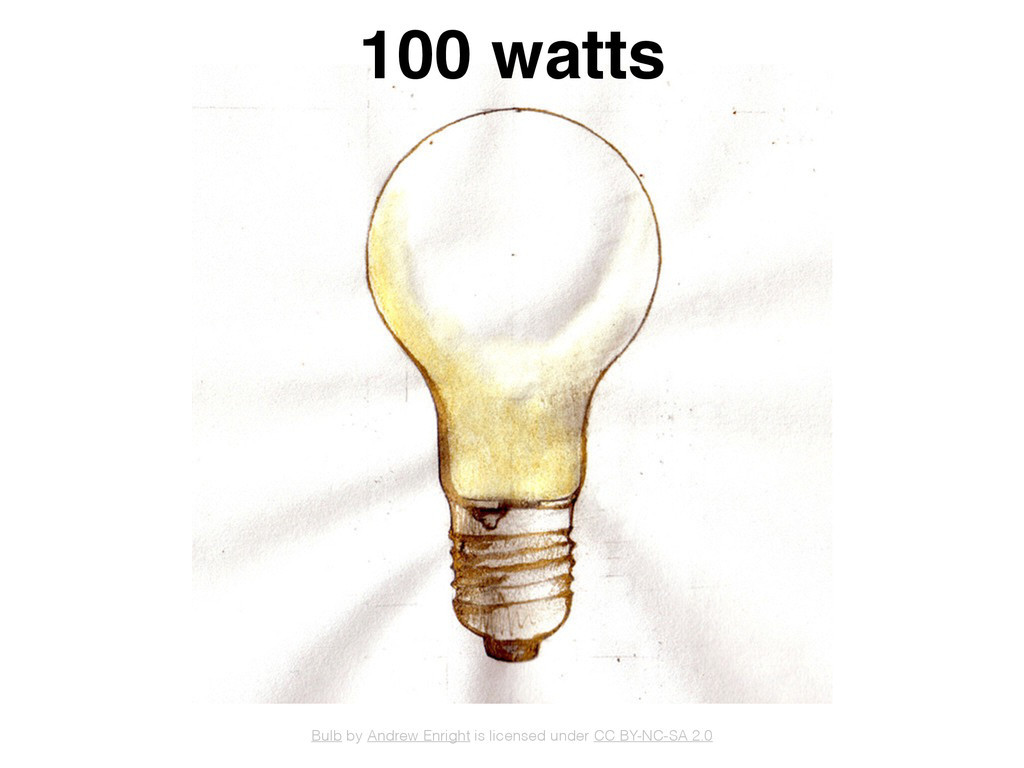100 watts Bulb by Andrew Enright is licensed un...