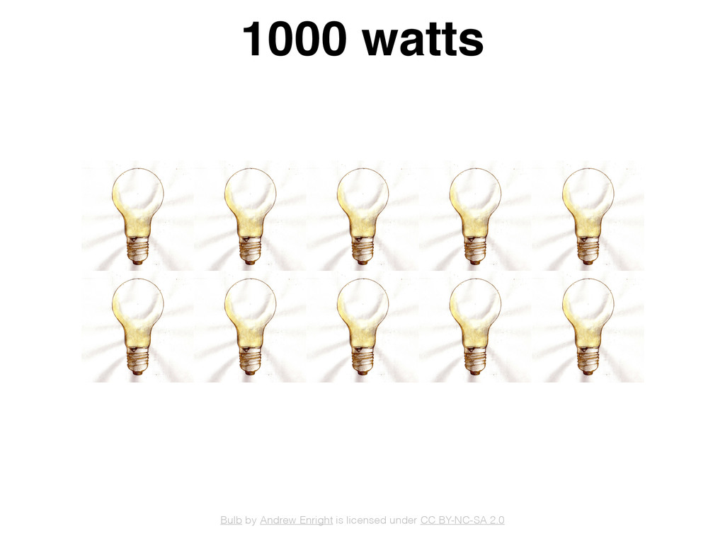 1000 watts Bulb by Andrew Enright is licensed u...