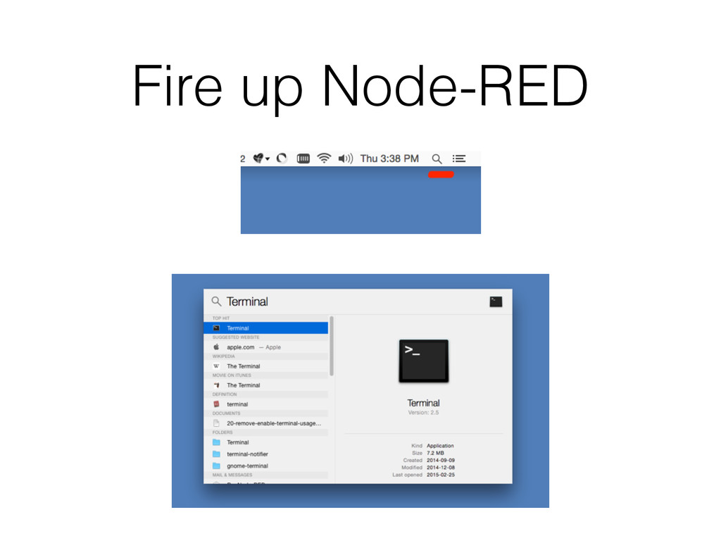 Fire up Node-RED