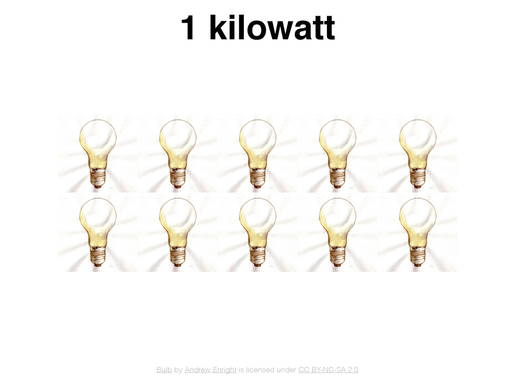 1 kilowatt Bulb by Andrew Enright is licensed u...