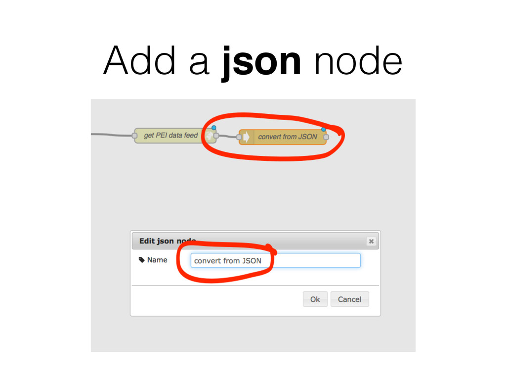 Add a json node