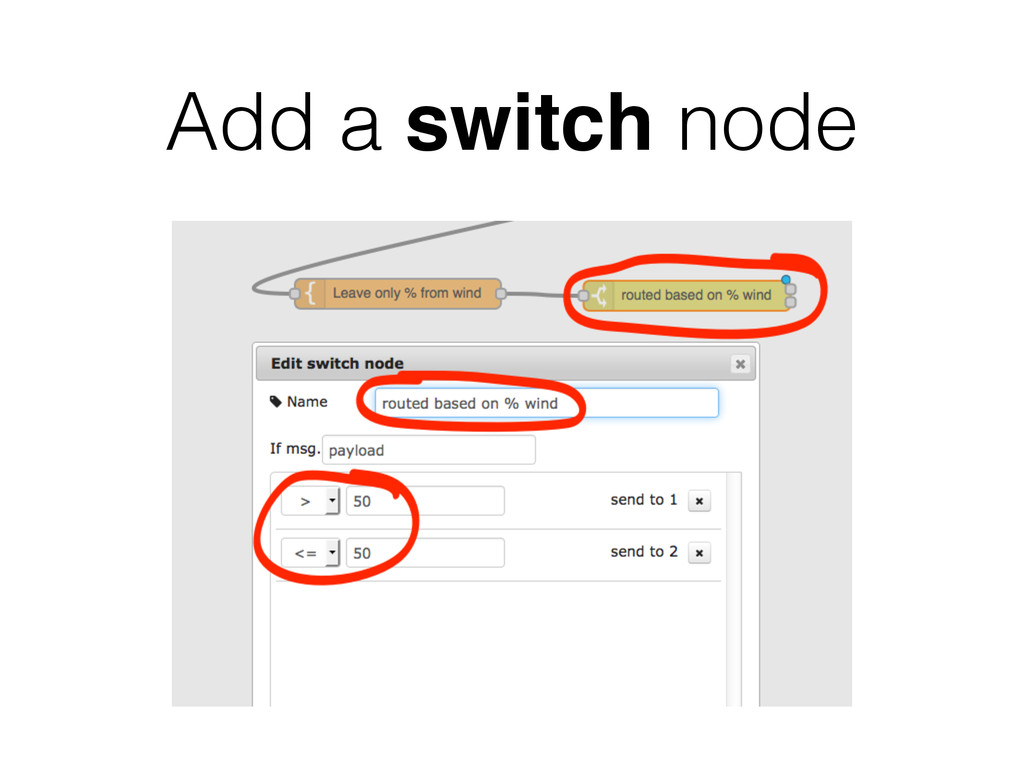 Add a switch node