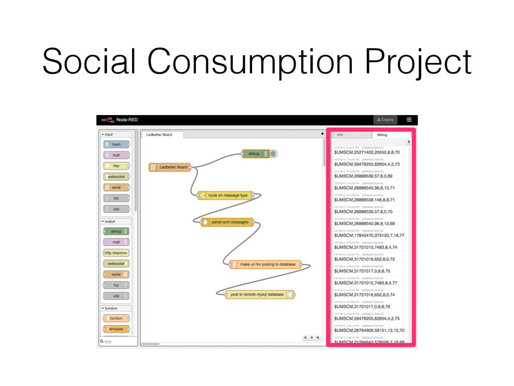 Social Consumption Project