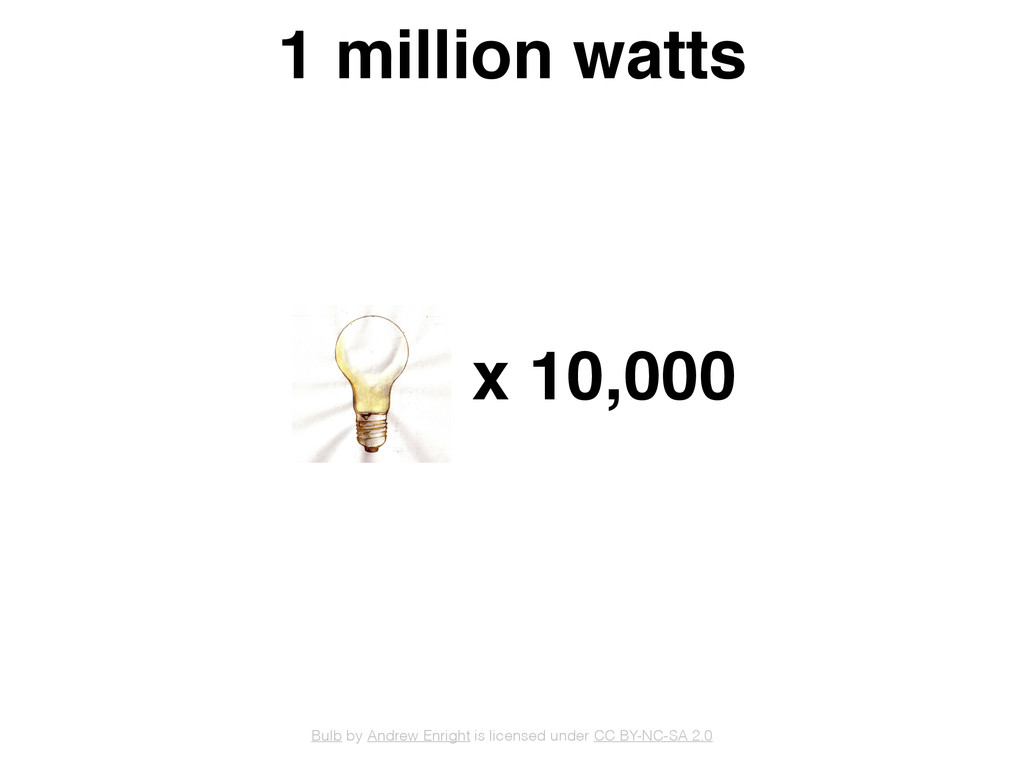 1 million watts x 10,000 Bulb by Andrew Enright...