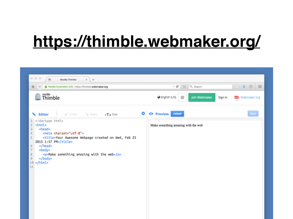 https://thimble.webmaker.org/