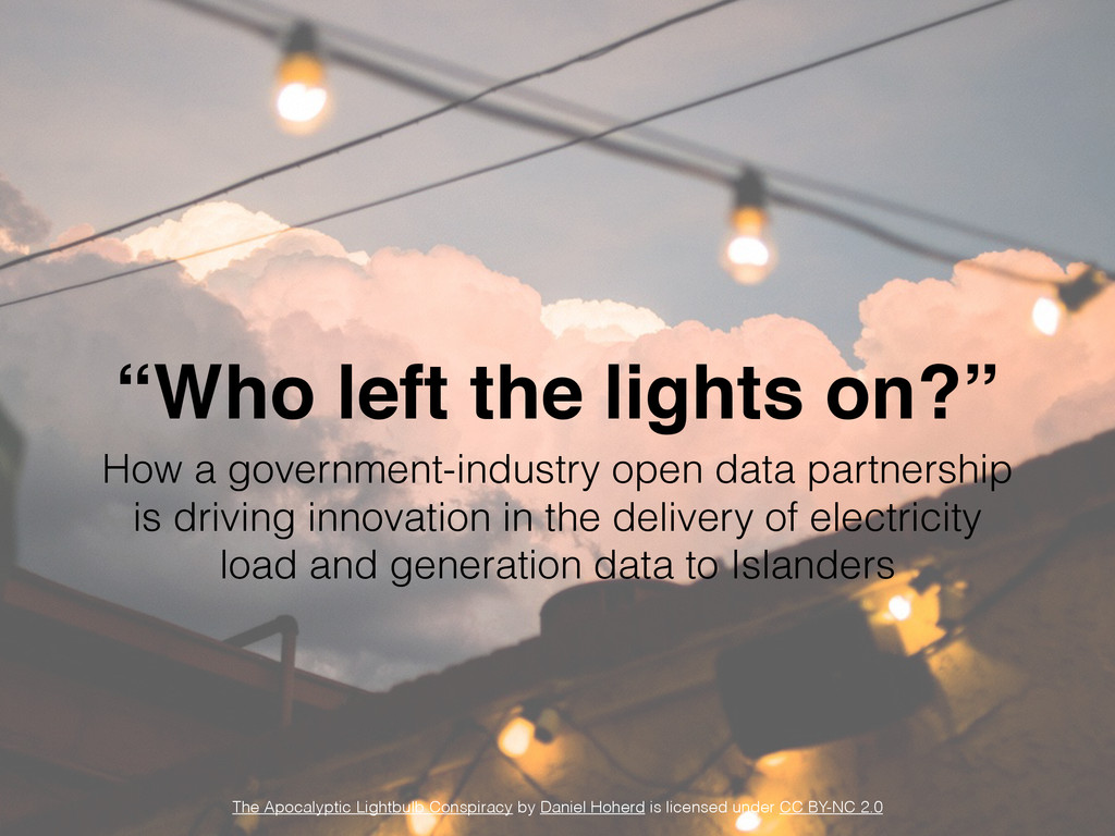 """Who left the lights on?"" How a government-indu..."