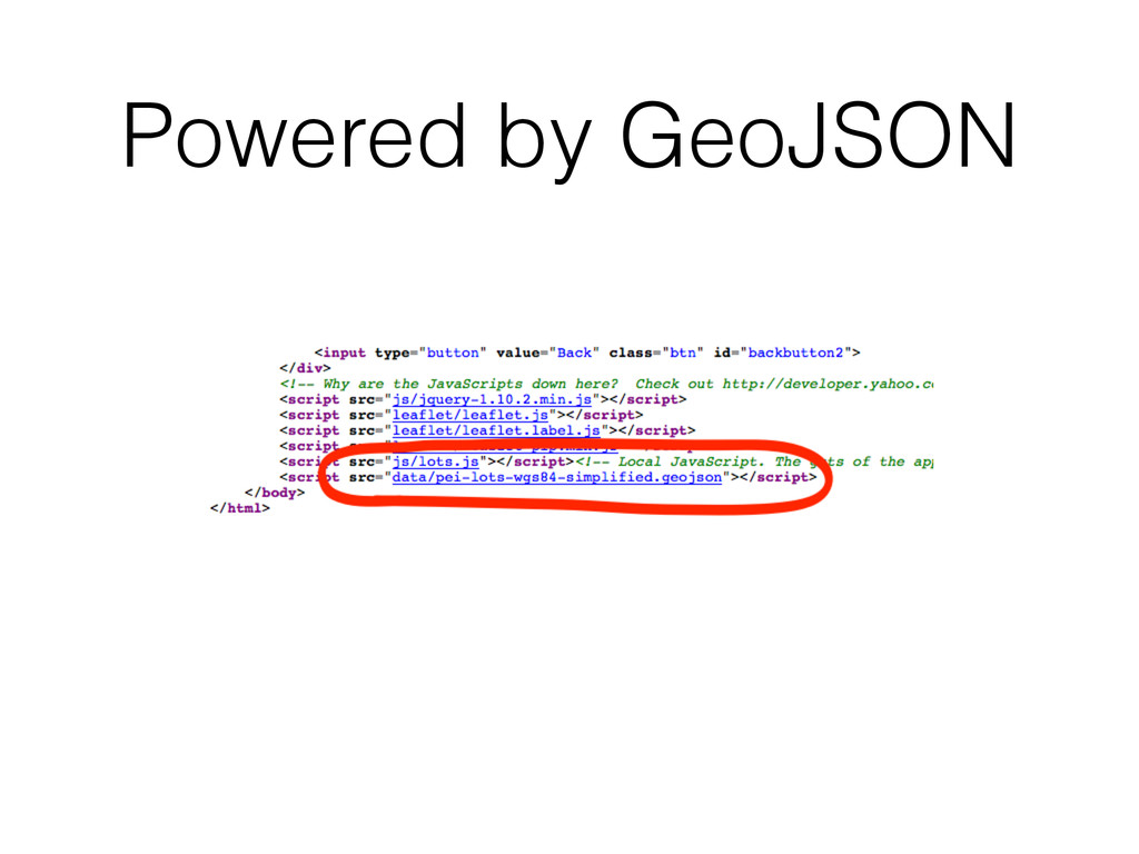 Powered by GeoJSON