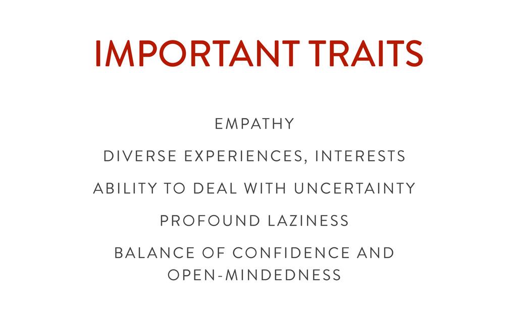 IMPORTANT TRAITS EMPATHY DIVERSE EXPERIENCES, I...