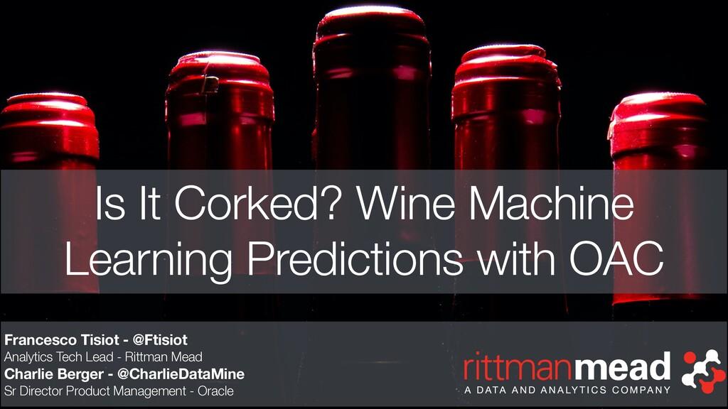Is It Corked? Wine Machine Learning Predictions...